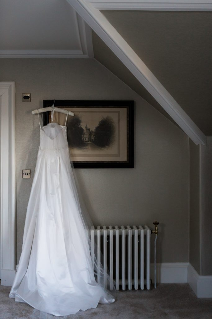 Suzanne Neville gown at Carlowrie Castle Wedding - photo