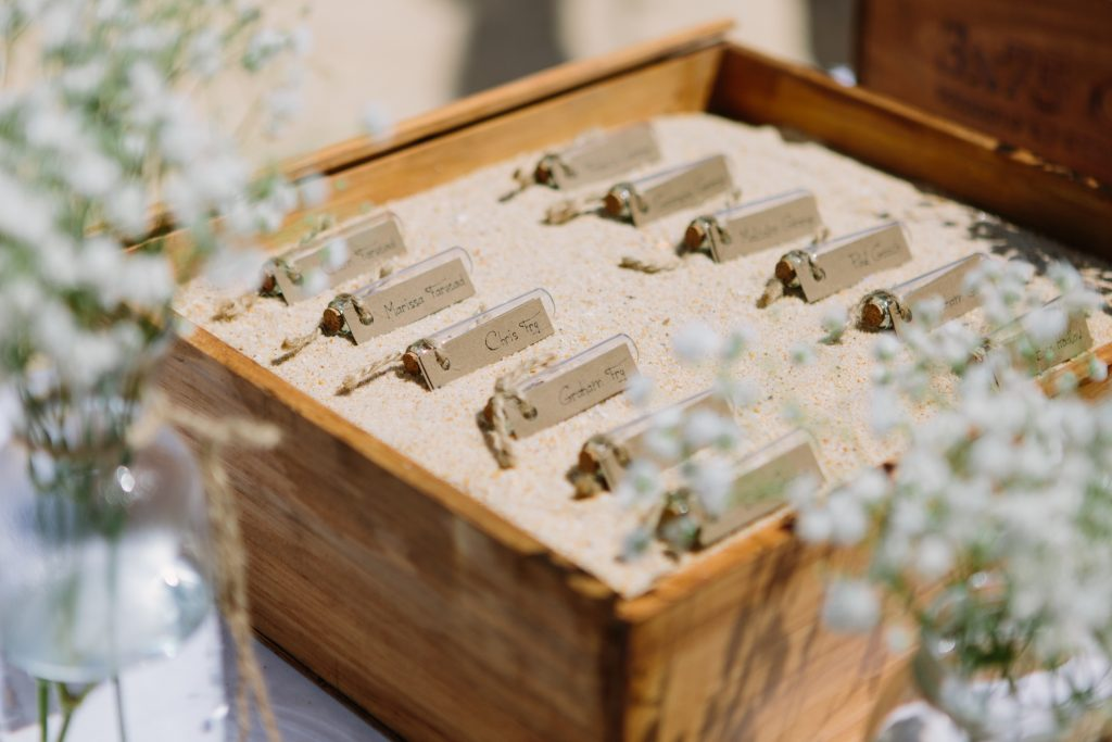 Escort Card Details Destination Wedding Photography photo