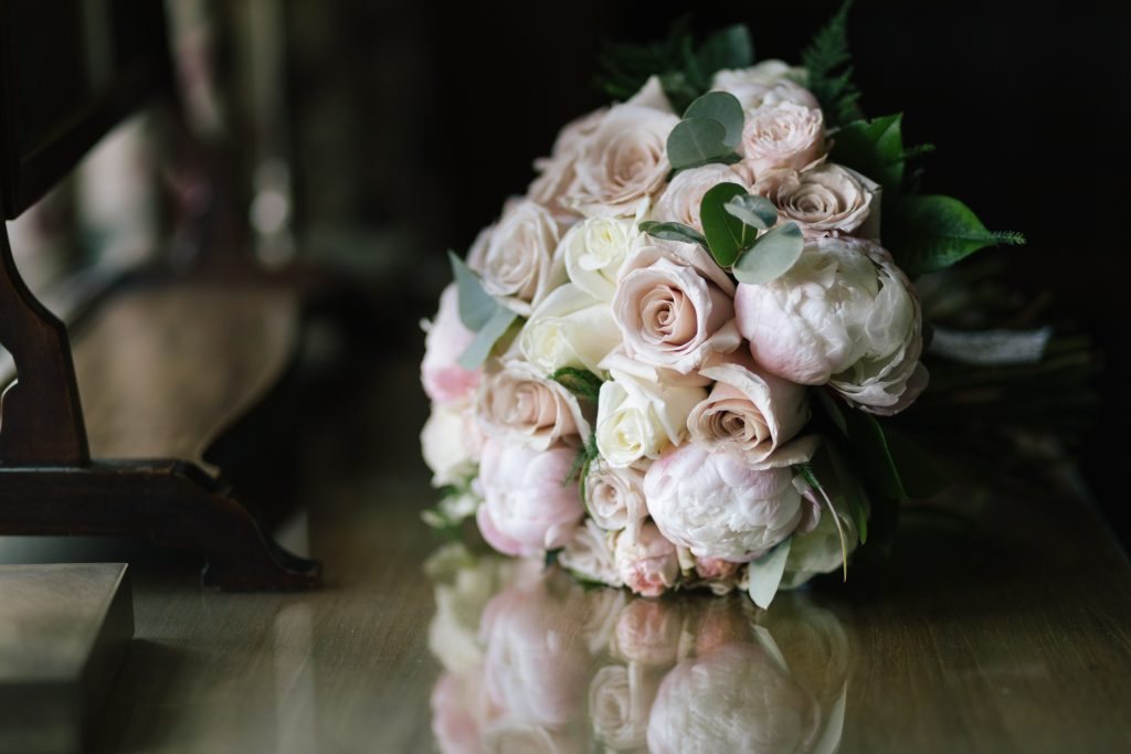 Bridal bouquet at Dorfold Hall Wedding