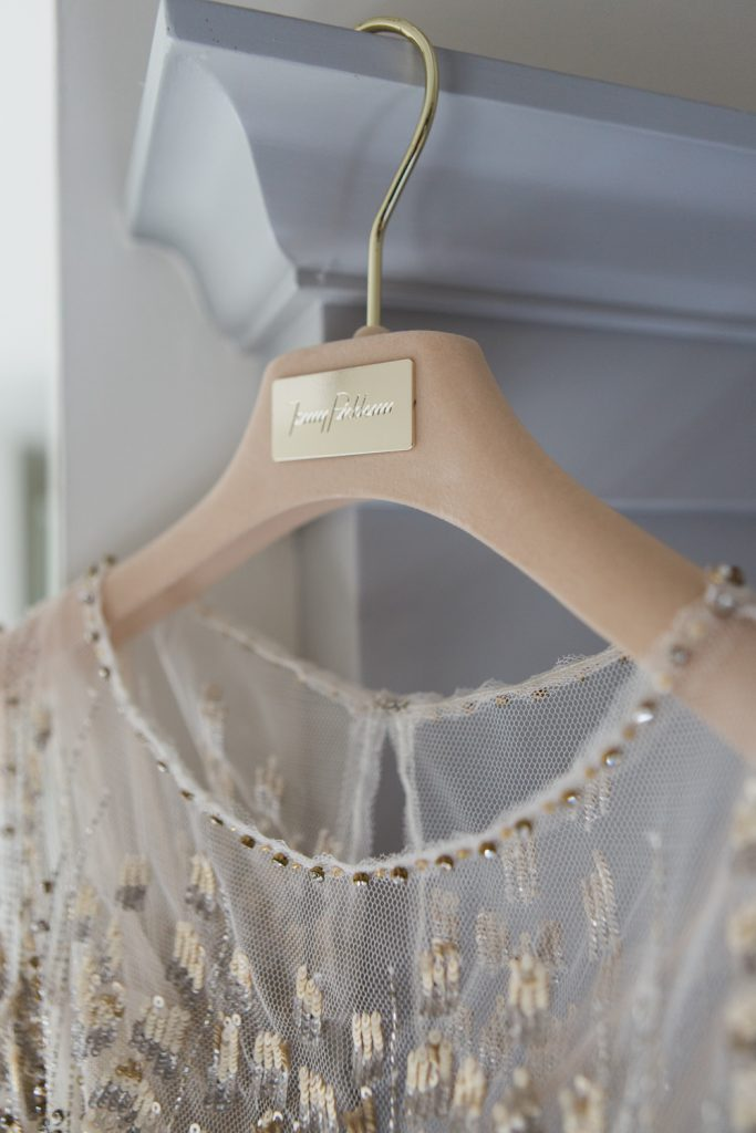 Farbridge Barns winter wedding with Jenny Packham wedding gown