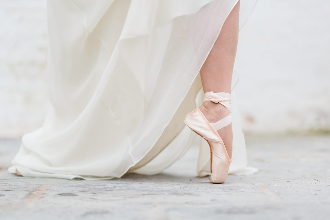 Ballet inspired editorial for bridal inspiration by Cheshire Wedding Photographer Jade Osborne Photography offering fine art wedding photography in the UK.