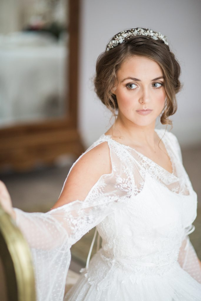 Bridal portrait bridal look book for Staffordshire based Sarah Willard Couture