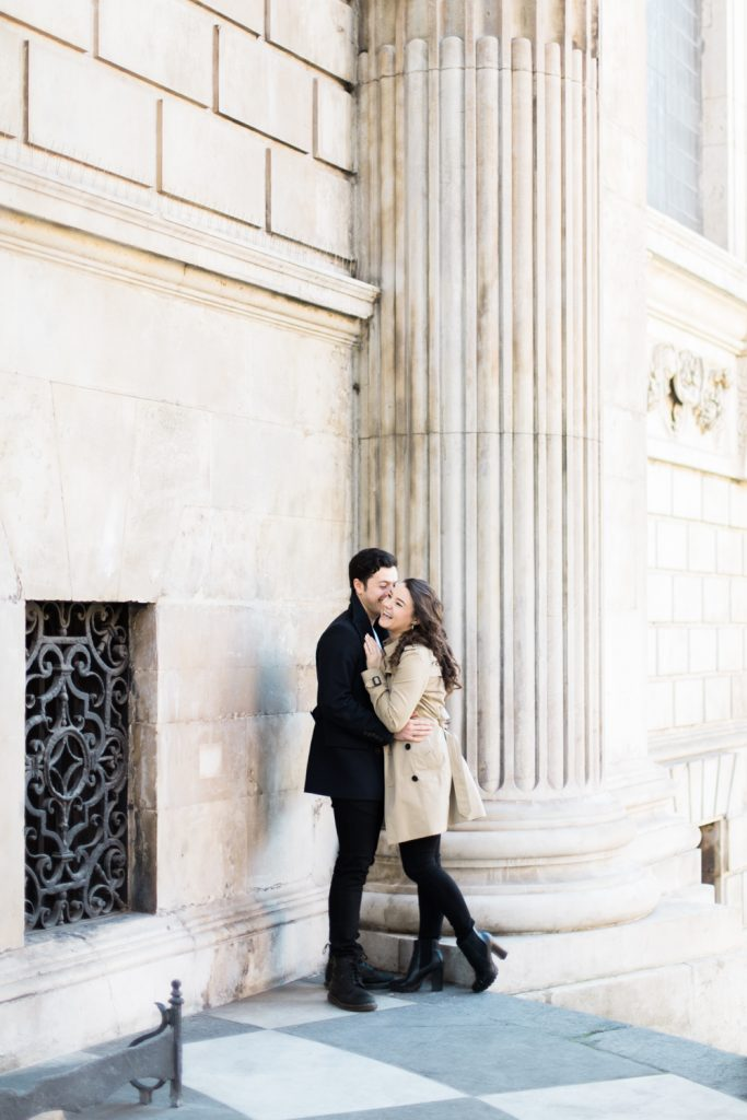 St Paul's Engagement Session in London by UK Fine Art Wedding Photographer