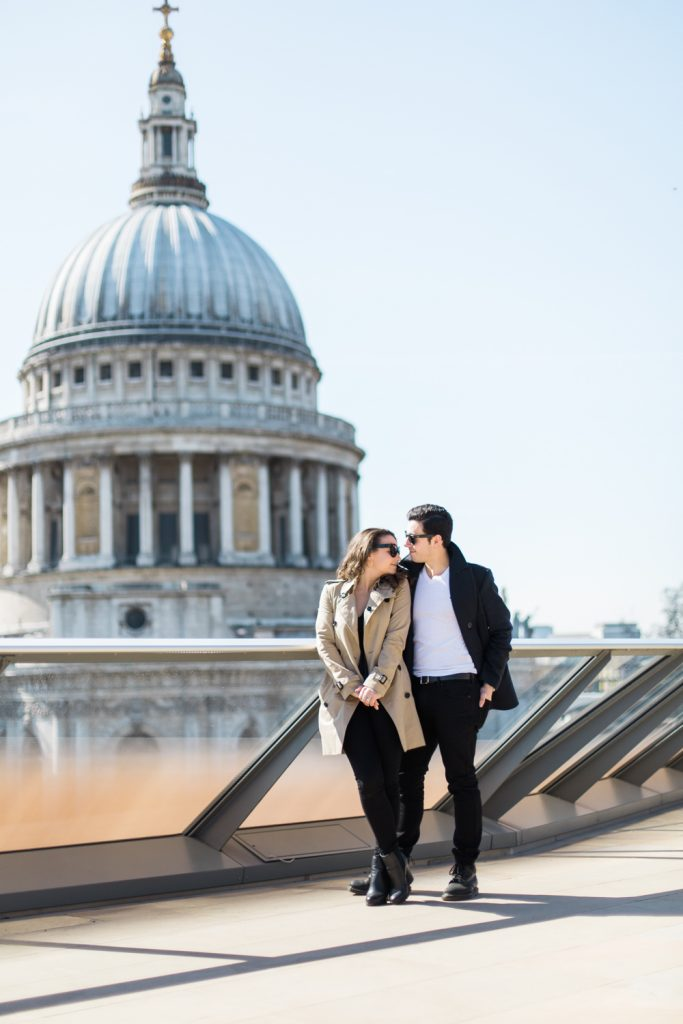 St Paul's Engagement Session in London by UK Wedding Photographer