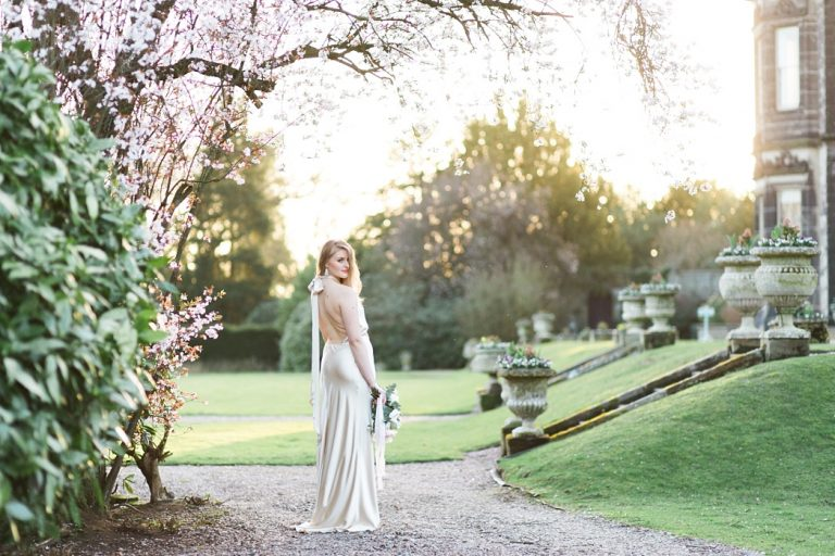 Sandon Hall Spring Wedding with Halfpenny London Gown photo