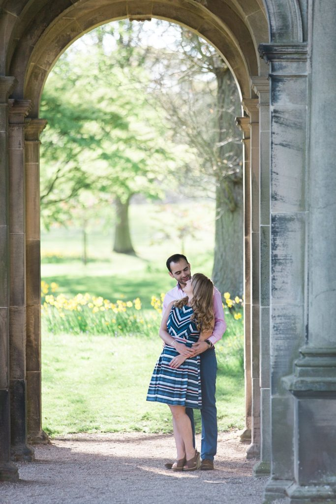 Engagement shoot at Trentham Gardens in Staffordshire photo