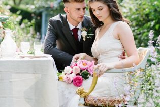 Country Garden Wedding at Dorfold Hall in Cheshire