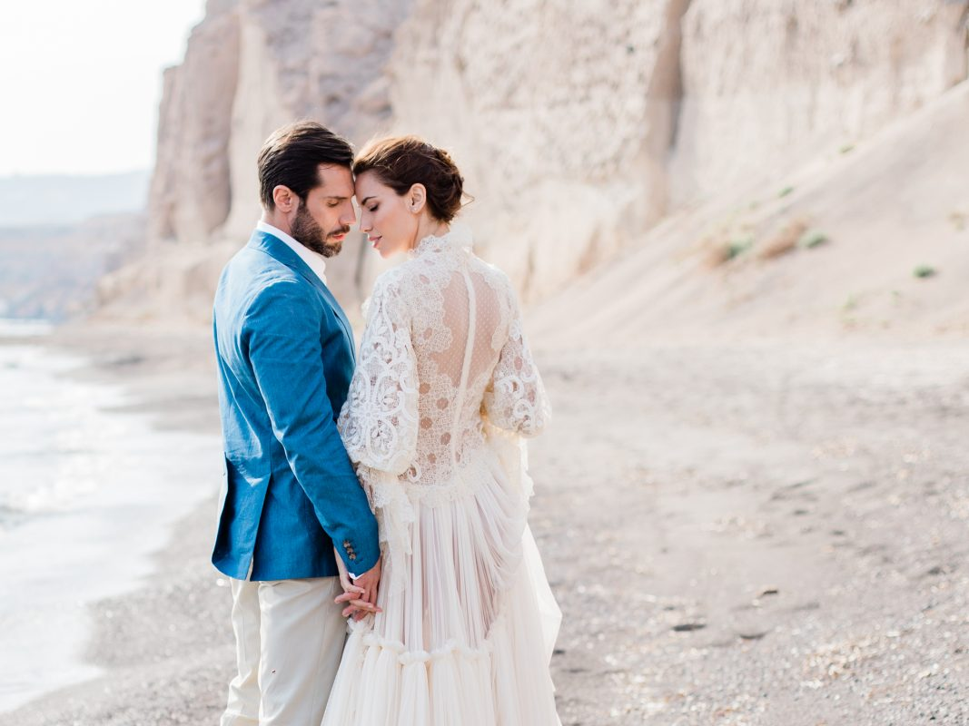 Destination Beach Wedding in Santorini by UK Fine Art