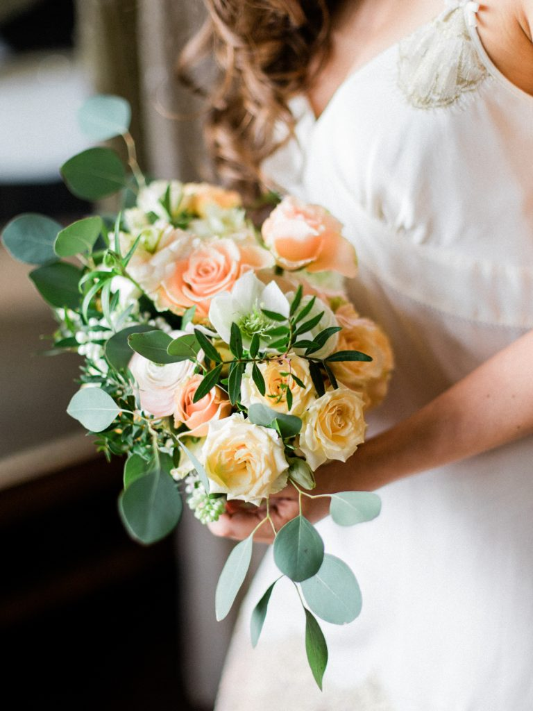 Bridal bouquet at a Dorfold Hall Wedding by Flowers by Breige.