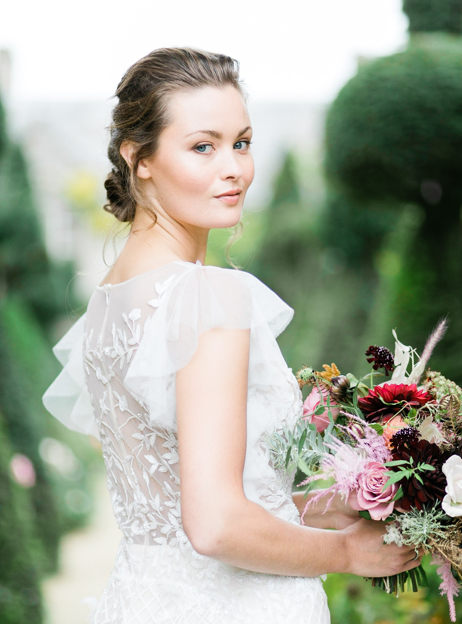 Bridal portrait by UK Fine Art Wedding Photographer in the Cotswolds