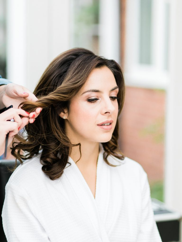 Bridal preparation for an English Country Mansion Wedding by Cheshire Wedding Photographer Jade Osborne Photography