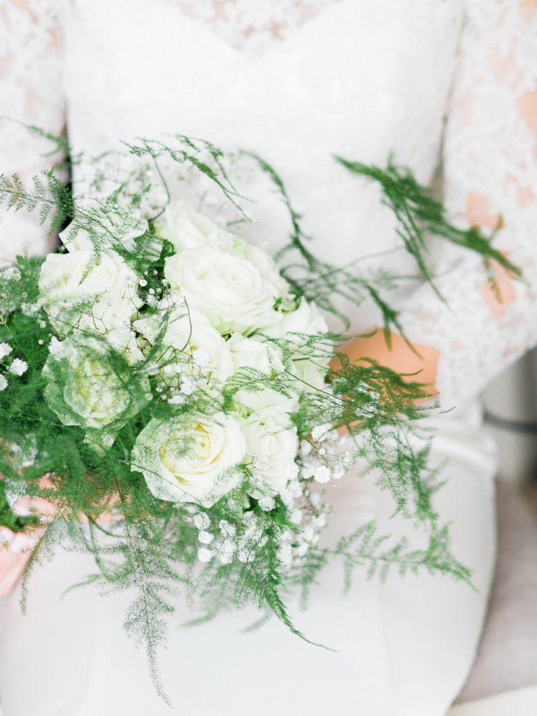 Classic White Florals for an English country mansion wedding by Cheshire Wedding Photographer