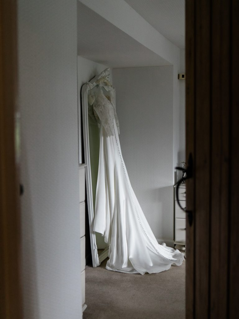Justin Alexander wedding gown for a country mansion wedding in Shropshire