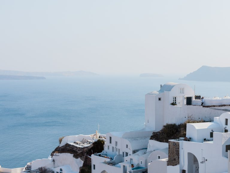 Blue and white of Oia in Santorini
