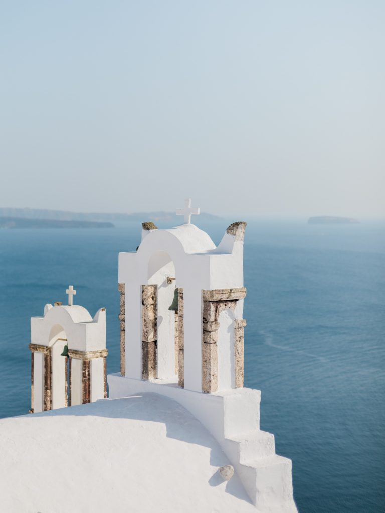 A destination wedding in Santorini