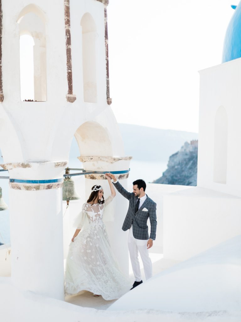 Santorini wedding in Oia