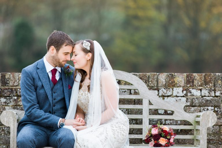 Romantic and natural bridal portraits by UK Fine Art Wedding Photographer.