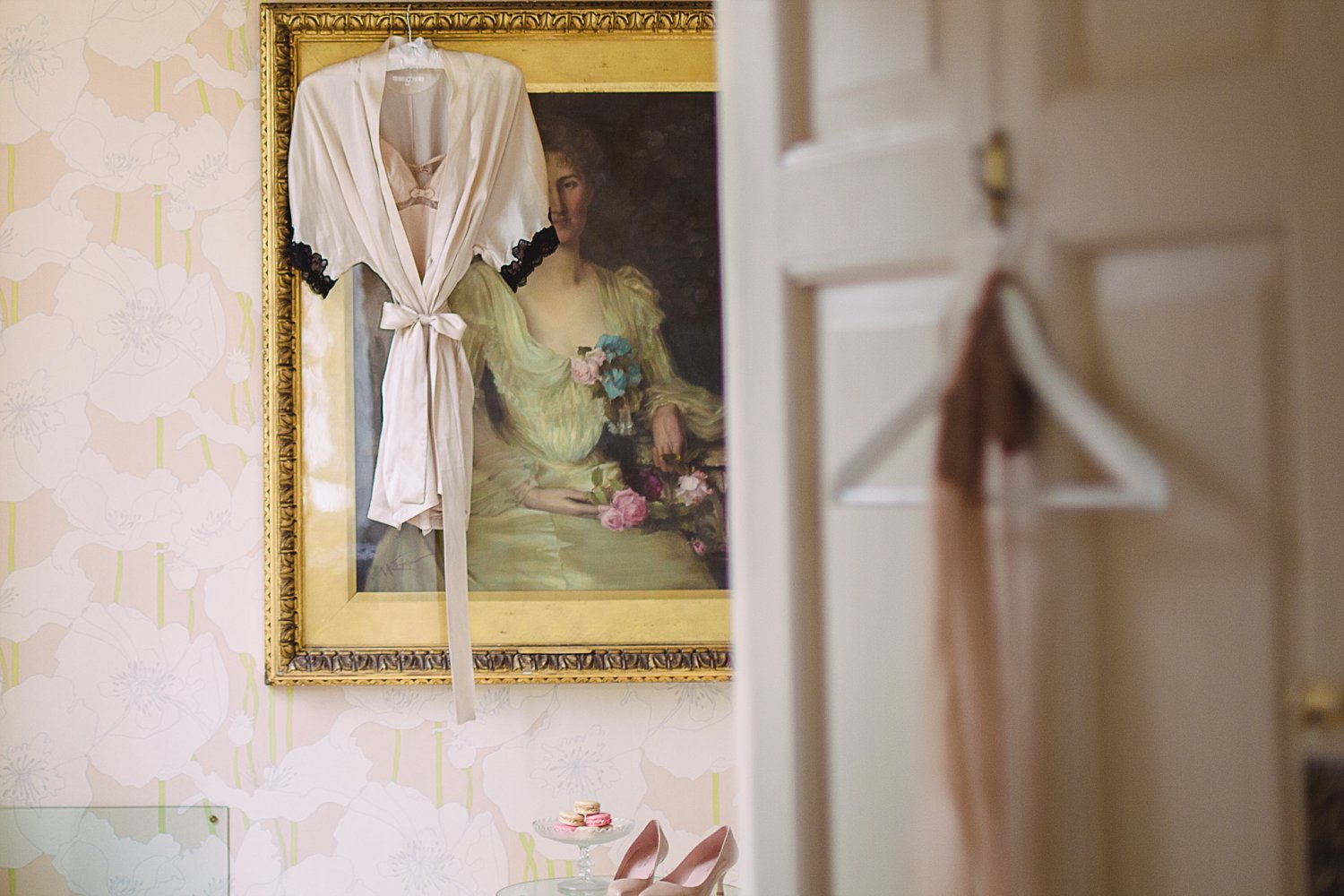 Bardot inspired bridal boudoir inspiration shoot with silk bridal kimono