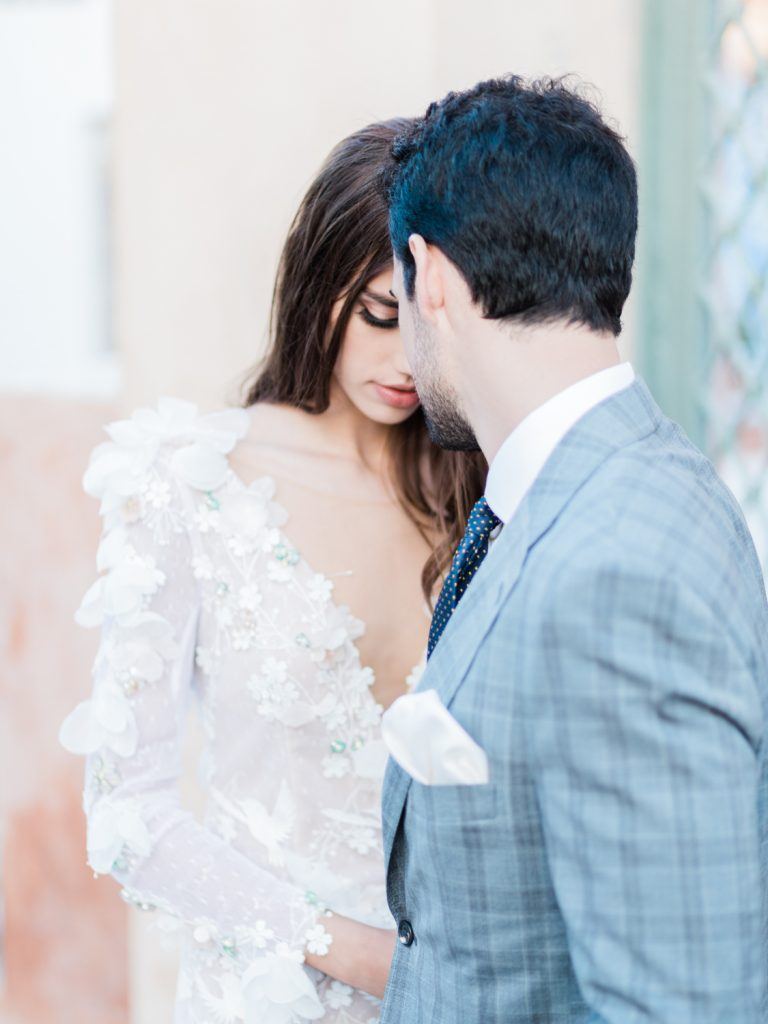Couple photography for Santorini wedding in Oia