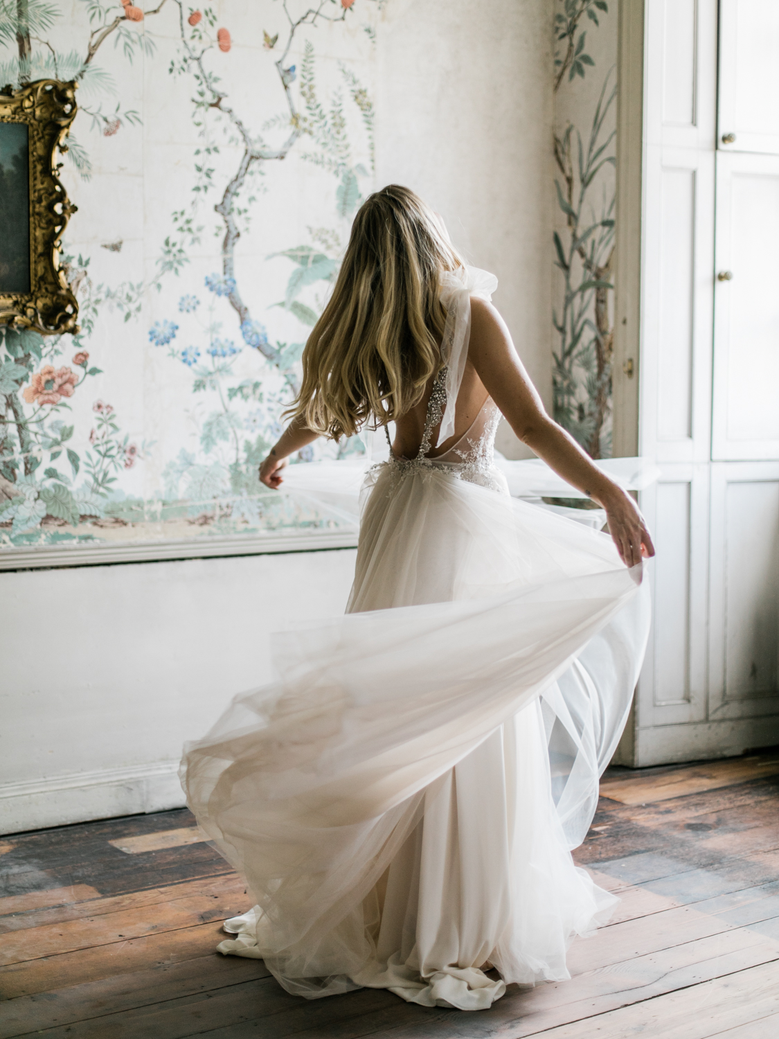Romantic, elegant wedding photography featuring Inbal Dror wedding dress at St Giles House.