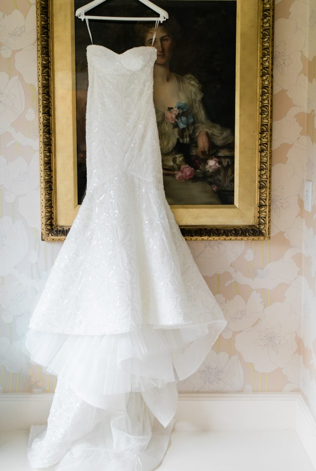 Pronovias wedding dress at Iscoyd Park wedding