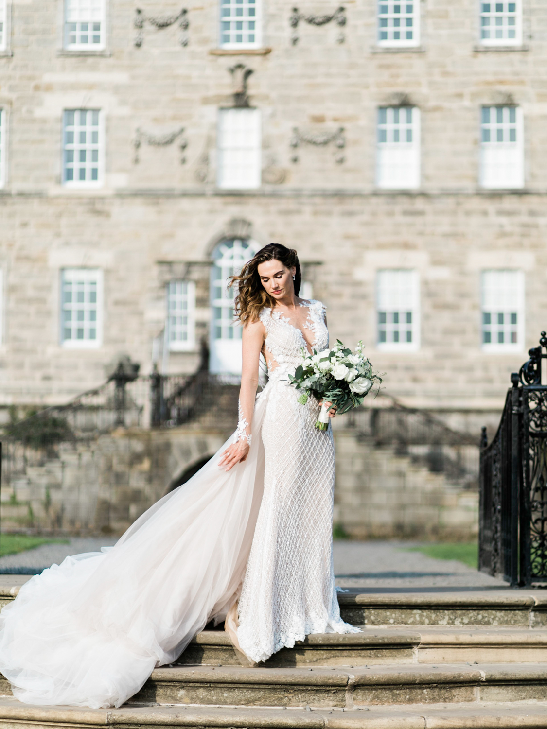 Luxury wedding with bride wearing Galia Lahav wedding dress